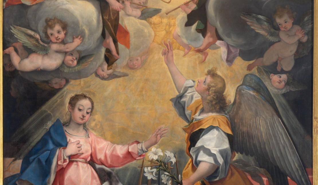 Дева Мария, Архангел Гавриил и благая весть.